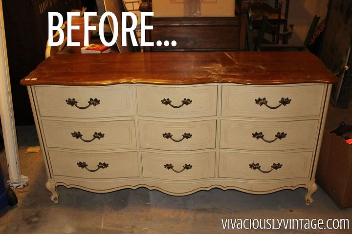 C Gold Dipped French Provincial Dresser Painted Furniture
