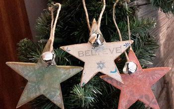 how to make star christmas ornaments, christmas decorations, seasonal holiday decor