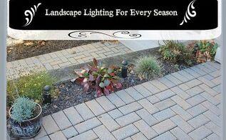 landscape lighting ideas for every season, gardening, landscape, lighting