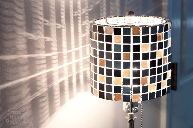 how to make a mosaic tile lamp shade, how to, lighting
