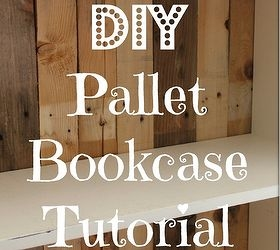 diy pallet bookcase, diy, how to, pallet, repurposing upcycling, storage ideas