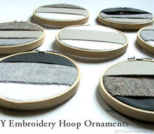 how to make embroidery hoop ornaments, christmas decorations, crafts, seasonal holiday decor