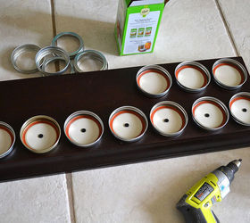 Mason Jar Storage Shelf Idea, Crafts, Mason Jars, Organizing, Shelving  Ideas,