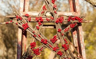 pottery barn inspired red star wreath knockoff, crafts, outdoor living, seasonal holiday decor, wreaths
