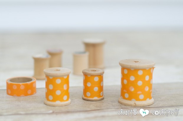 how to make washi tape thread spool carrots, crafts, easter decorations, seasonal holiday decor