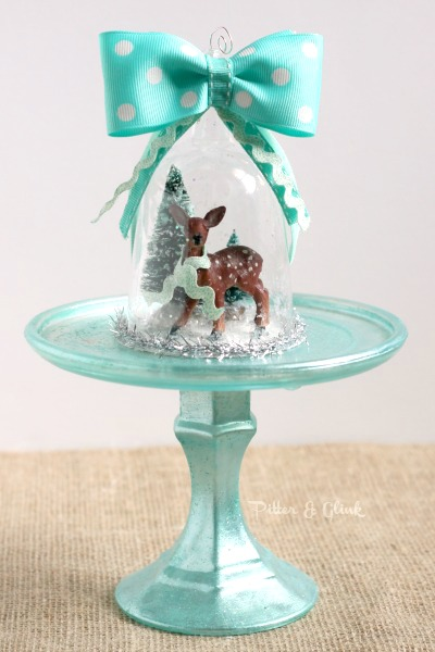 how to make a vintage looking deer snow globe ornament, christmas decorations, crafts, seasonal holiday decor