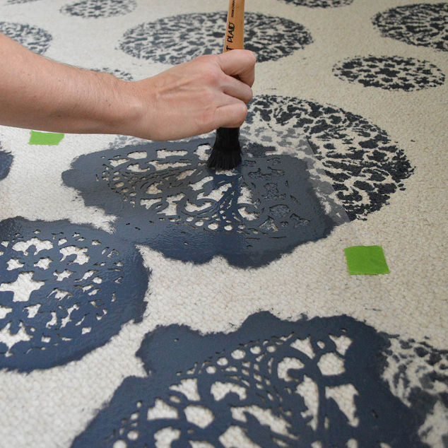 How To Use Stencils On An Old Carpet