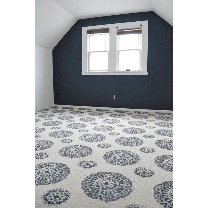 how to use stencils on an old carpet, diy, flooring, painting, How to paint a carpet
