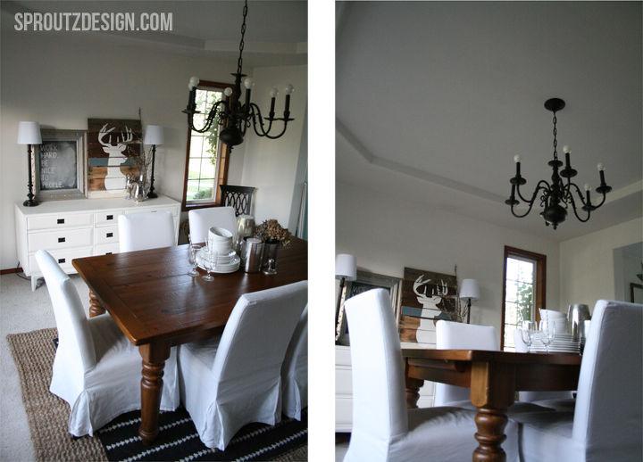 rustic modern dining room decor ideas, dining room ideas, home decor