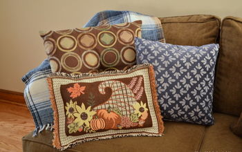 no sew placemat pillow craft idea for thanksgiving, crafts, seasonal holiday decor, thanksgiving decorations