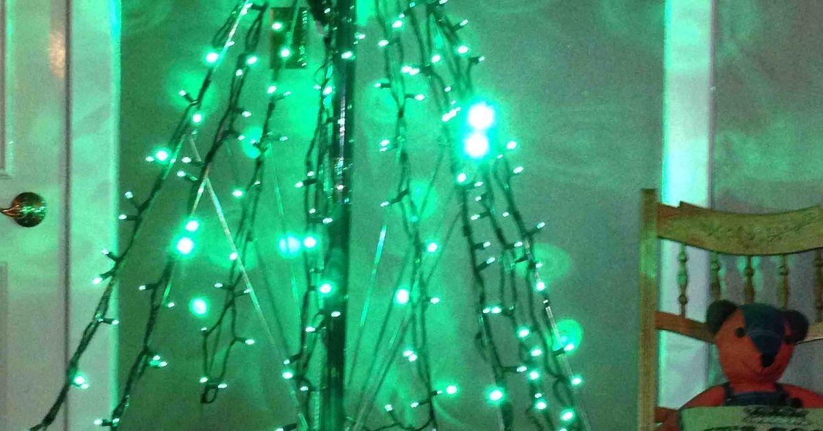 how to make an umbrella tree for christmas hometalk - Umbrella Christmas Tree