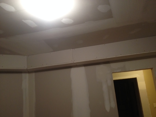 soffit solution in basement suggestions, basement ideas, home improvement, In this room the soffit has been extended beyond just the duct work for a more uniform look I like it ok