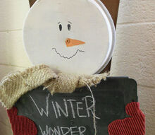 how to make a cake pan snowman decoration, chalkboard paint, christmas decorations, crafts, seasonal holiday decor