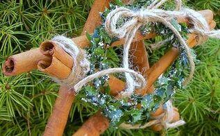 cinnamon stick star ornaments, christmas decorations, seasonal holiday decor