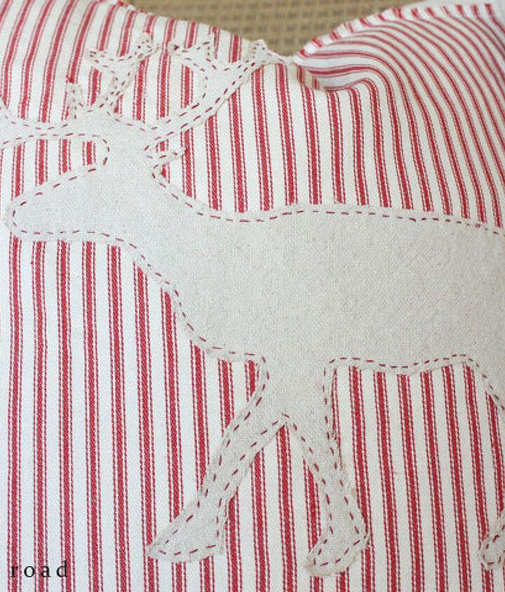 how to make drop cloth christmas pillows, christmas decorations, seasonal holiday decor, reupholster