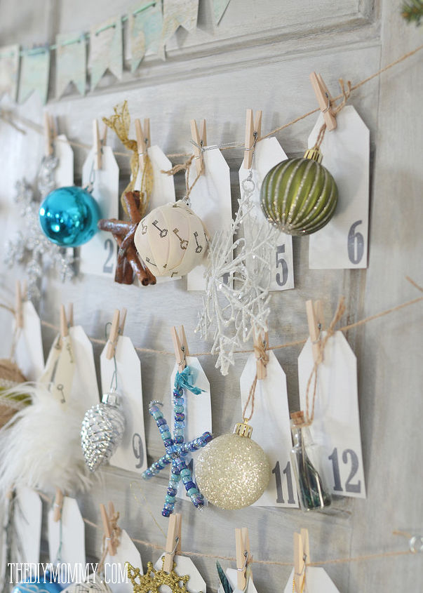 Turning An Old Door Into A Daily Ornament Advent Calendar