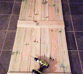 how to build and hang a barn door cheaply closet diy doors
