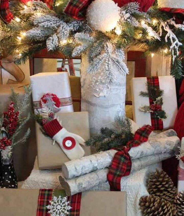 make faux birch logs using foam pool noodles, christmas decorations, crafts, seasonal holiday decor