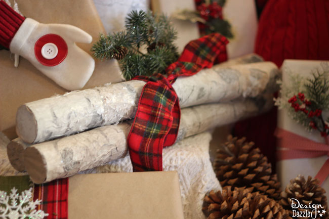 make faux birch logs using foam pool noodles christmas decorations crafts seasonal holiday