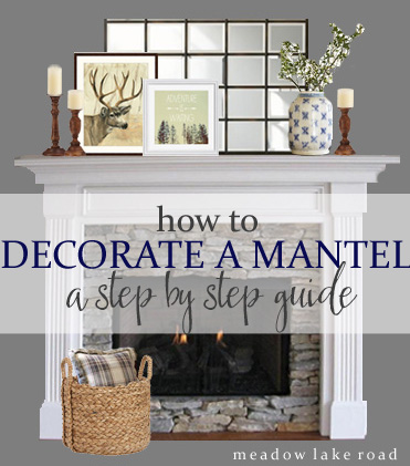 step by step idea for decorating a mantel hometalk. Black Bedroom Furniture Sets. Home Design Ideas