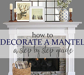 Gentil Step By Step Idea For Decorating A Mantel, Fireplaces Mantels, Seasonal  Holiday Decor