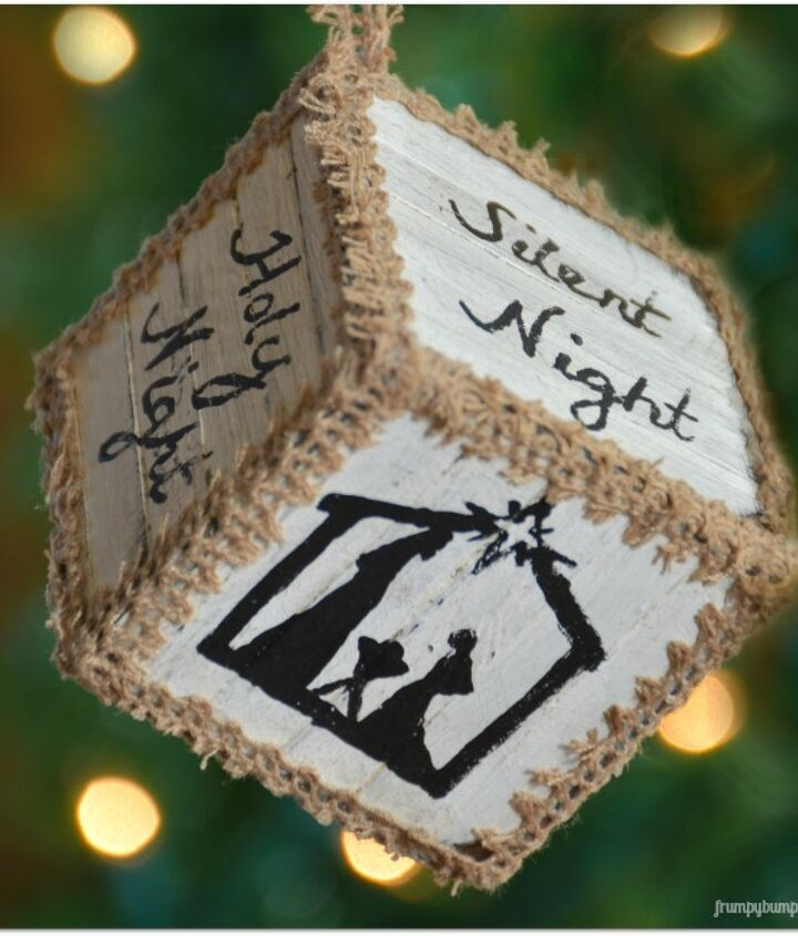how to create pallet block ornaments for christmas, christmas decorations, crafts, seasonal holiday decor