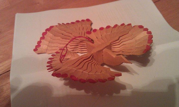 slovakian wood carved christmas bird, christmas decorations, seasonal holiday decor