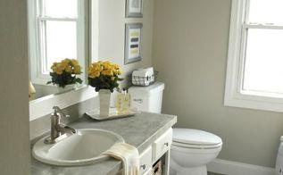 builder grade bathroom makeover idea, bathroom ideas, home decor