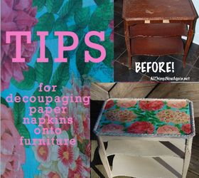 Delicieux Tips For Decoupaging Paper Napkins Onto Furniture, Decoupage, Painted  Furniture
