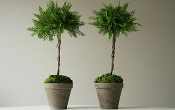 how to make faux topiaries craft decor, gardening