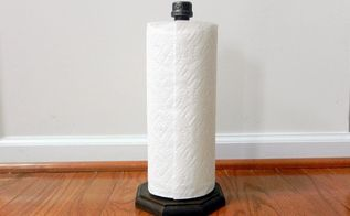 how to make an industrial paper towel holder, diy, repurposing upcycling