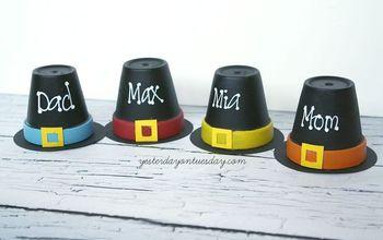 pilgrim hat placeholders, crafts, seasonal holiday decor, thanksgiving decorations