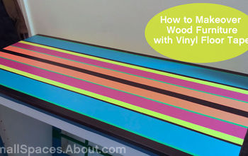 How to Make Over Wood Furniture With Vinyl Floor Tape