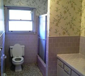 ... Is The Hall Bathroom. Not So Crazy About The Lavender Tile But Want To  See If Anyone Has Ideas About How To Make This Into Something Better Than  It Is ...