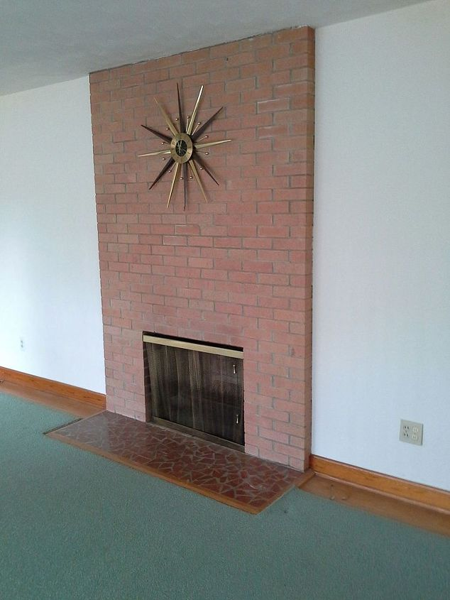 q 1960s brick fireplace makeover ideas, concrete masonry, fireplaces mantels