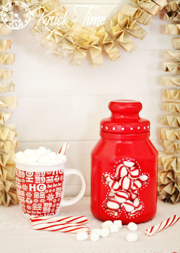 easy gingerbread man christmas candy jar, christmas decorations, crafts, seasonal holiday decor