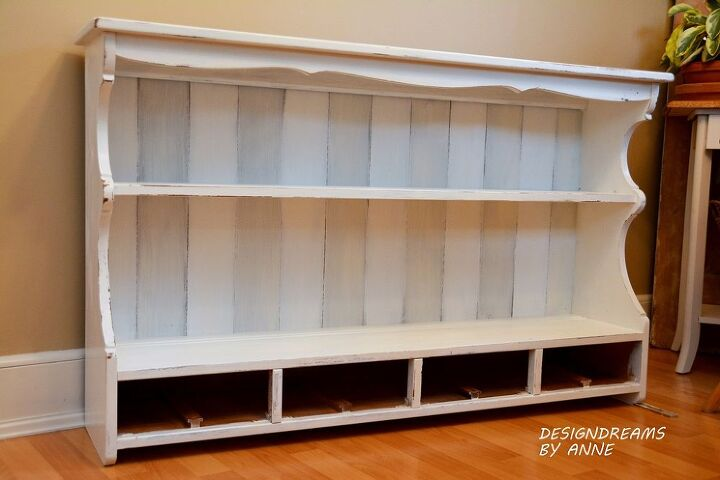 custom shelving from a hutch topper, chalk paint, painted furniture, shelving  ideas