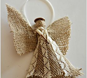 Burlap Angel Christmas Ornament | Hometalk