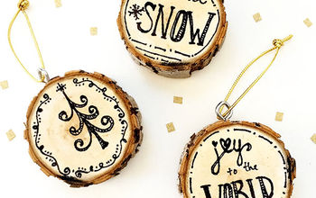 Design Your Own Pen and Ink Wood Slice Ornaments