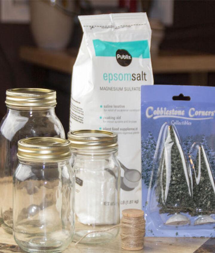how to make winter wonderland mason jars, christmas decorations, crafts, mason jars, repurposing upcycling, seasonal holiday decor