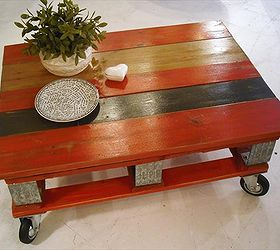 Red Pallet Coffee Table with Instructions Hometalk
