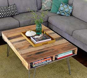 Pallet Coffee Table With Metal Hairpin Legs Diy 99 Pallets, Diy, How To,