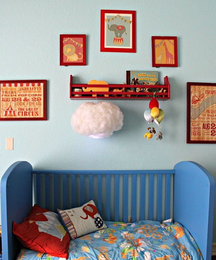 make a glowing cloud light, bedroom ideas, crafts, home decor, how to, lighting