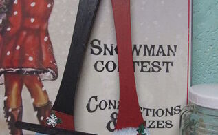 how to make santa and frosty utensils, christmas decorations, crafts, seasonal holiday decor