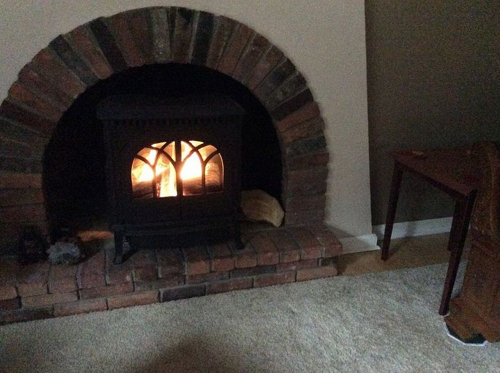 fireplace decor ideas for fall, fireplaces mantels, Some detail on how it rests on floor