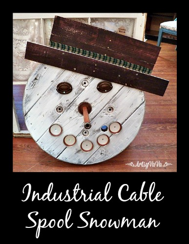 how to make an industrial cable spool snowman, christmas decorations, pallet, seasonal holiday decor