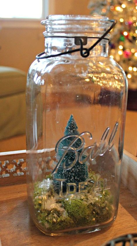 christmas tree terrariums, christmas decorations, gardening, terrarium