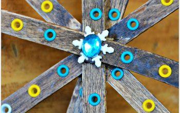 Popsicle Stick Peek Through Snowflakes