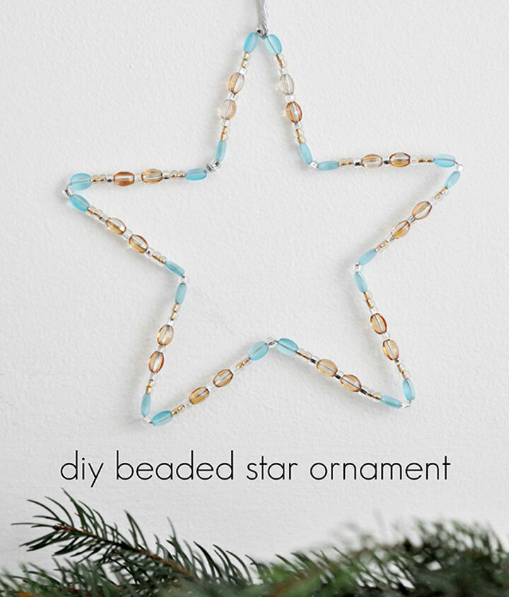 how to make a beaded star ornament using wire, christmas decorations, crafts, seasonal holiday decor