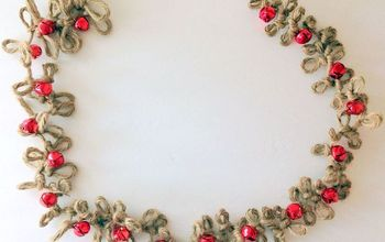 Loopy Jute Twine Garland With Bells
